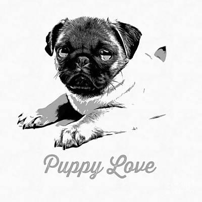 Puppy Love Poster by Edward Fielding