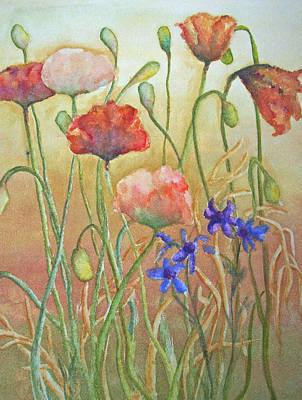 Purely Poppies Poster by Sandy Collier