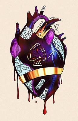 Royal Heart  Poster by Kenal Louis