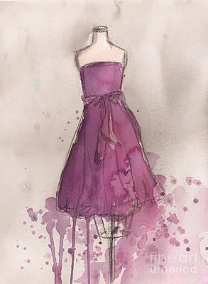 Purple Bow Dress Poster by Lauren Maurer