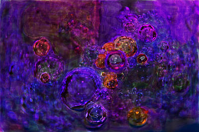 Purple Bubbles Painting Poster by Don  Wright