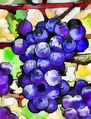 Purple Grapes Poster by Lanjee Chee