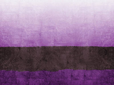 Purple On The Horizon- Art By Linda Woods Poster by Linda Woods
