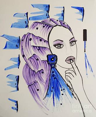 Purple Or Blue Poster by Jasna Gopic