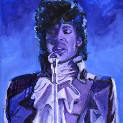 Purple Rain Poster by Donna Tuten