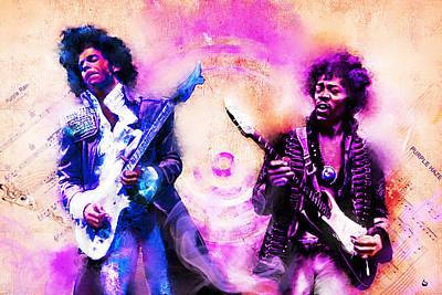 Purple Rain Meets Purple Haze Poster by Howard Barry