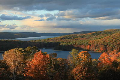 Quabbin Reservoir Autumn Poster by John Burk