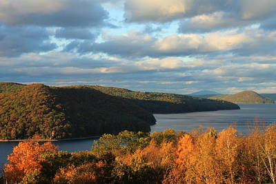 Quabbin Reservoir Foliage View Poster by John Burk