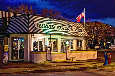 Quaker Steak And Lube Poster by Skip Tribby