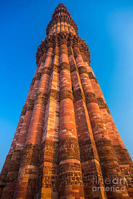 Quatab Minar Tower Poster by Inge Johnsson