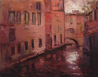 Quiet Canal In Venice IIi Poster by R W Goetting