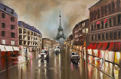 Quiet Rainy Street Poster by Svetlana Tikhonova