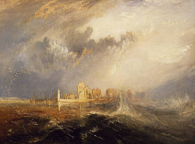 Quillebeuf  Mouth Of The Seine Poster by Joseph Mallord William Turner