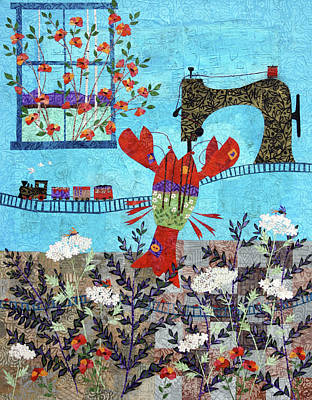 Quilted Lobster Poster by Janyce Boynton