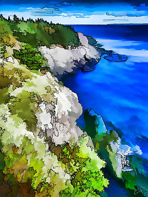 Quoddy Coast - Abstract Poster by Bill Caldwell -        ABeautifulSky Photography