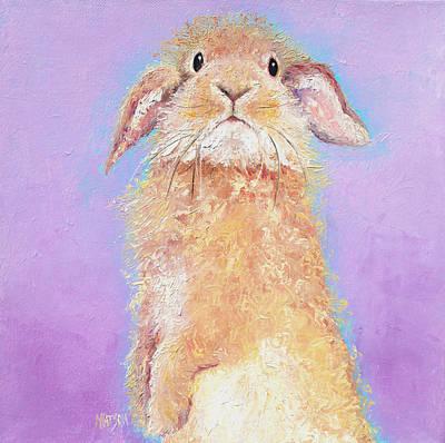 Rabbit Painting - Babu Poster by Jan Matson