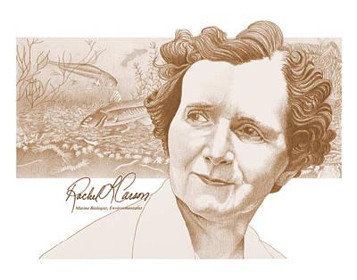 Rachel Carson Poster by John D Benson