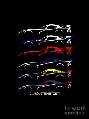 Racing Snake Silhouettehistory Poster by Gabor Vida