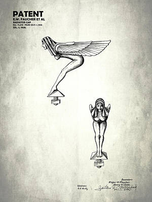 Radiator Cap Patent 1928 Poster by Mark Rogan