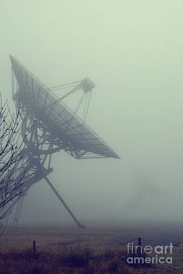 Radiotelescopes In The Mist Poster by Patricia Hofmeester