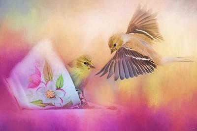 Raiding The Teacup - Songbird Art Poster by Jai Johnson