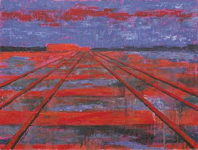 Railroad Into The Dusk  Poster by Darko Topalski
