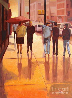 Rain In Manhattan Number Eighteen Poster by Tate Hamilton