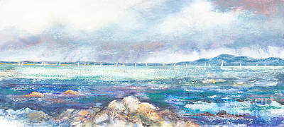 Rain Over Howth Poster by Kate Bedell