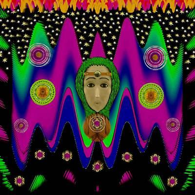 Rainbow Bohemian Peace Girl Poster by Pepita Selles
