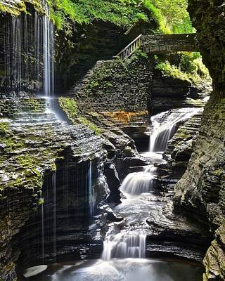 Rainbow Falls Poster by Frozen in Time Fine Art Photography