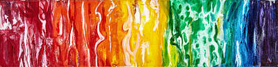 Rainbow Body Poster featuring the painting Rainbow Forms by Lora D'Agnillo