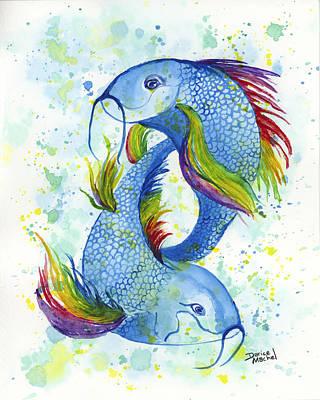 Rainbow Koi Poster by Darice Machel McGuire