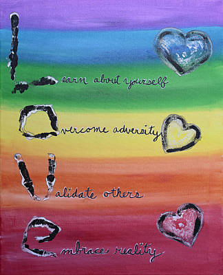 Rainbow Body Poster featuring the painting Rainbow Love by April Kasper