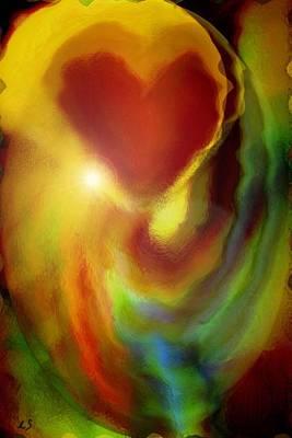 Spirtual Poster featuring the digital art Rainbow Of Love by Linda Sannuti
