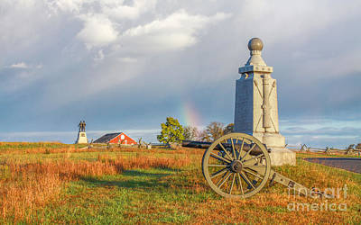 Rainbow On The Gettysburg Battlefield Two Poster by Randy Steele