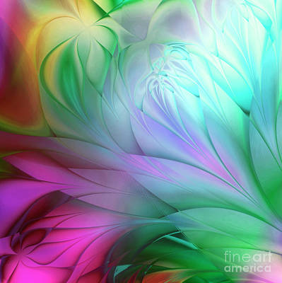 Rainbow Tulips Poster by Mindy Sommers