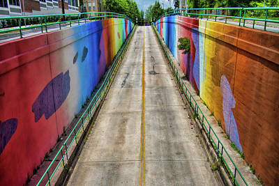 Rainbow Tunnel Poster by Mark Chandler