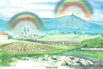 Rainbows In Faith  Poster by Christina Verdgeline