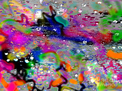 Raindrop Rainbows Poster by Expressionistartstudio Priscilla-Batzell