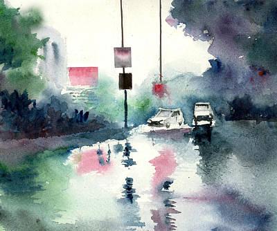 Rainy Day Poster by Anil Nene