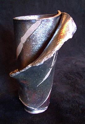 Raku Slab Wrapped Vase Poster by Carolyn Coffey Wallace