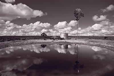 Ranch Pond New Mexico Poster by Steve Gadomski