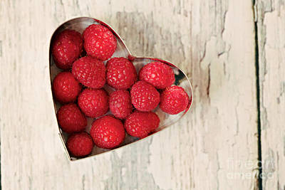 Raspberry Heart Poster by Kim Fearheiley