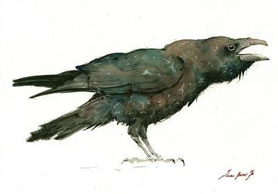 Raven Bird Poster by Juan Bosco