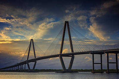 Ravenel Bridge Sunset Poster by Rick Berk
