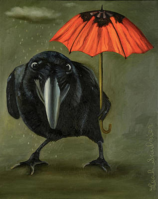 Ravens Rain 2 Poster by Leah Saulnier The Painting Maniac