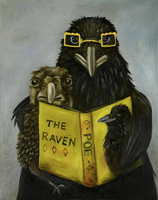 Ravens Read Poster by Leah Saulnier The Painting Maniac