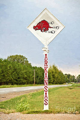 Razorback Sign Poster by Scott Pellegrin