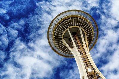 Reach For The Sky - Seattle Space Needle Poster by Stephen Stookey
