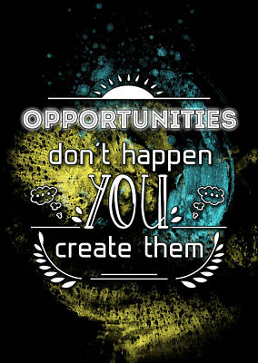Reality Art Opportunities Poster by Melanie Viola